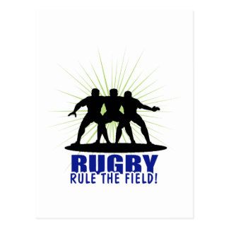 Rugby Rule The Field Postcard