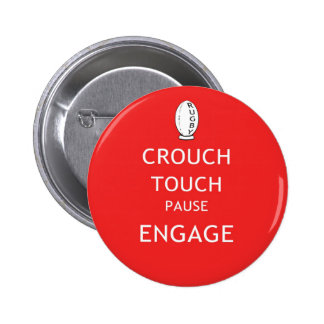 Rugby scrum instructions (old) 2 inch round button