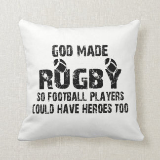 Rugby - So Football Players Have Heroes Throw Pillow
