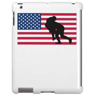Rugby Tackle American Flag
