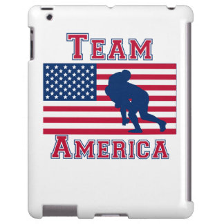 Rugby Tackle American Flag Team America