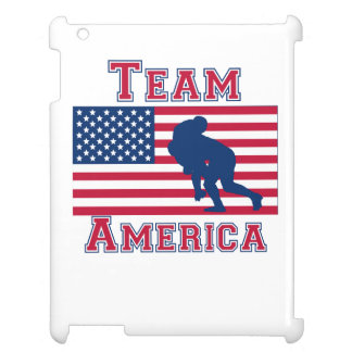 Rugby Tackle American Flag Team America iPad Case