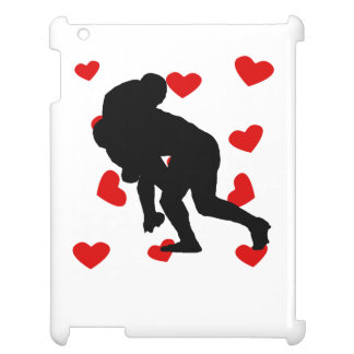 Rugby Tackle Hearts iPad Cases