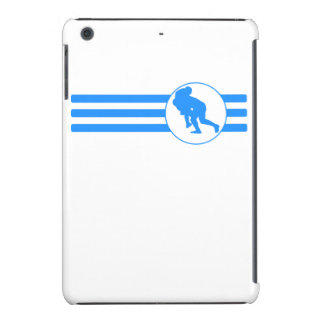 Rugby Tackle Stripes (Blue) iPad Mini Cover