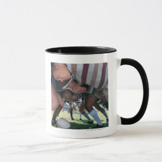 Rugby Union Players in a Scrum Mug