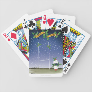 rugby xmas bicycle playing cards