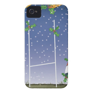rugby xmas iPhone 4 cases