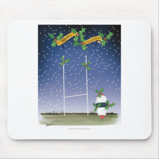 rugby xmas mouse pad