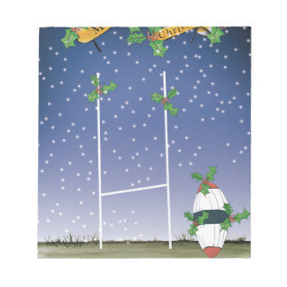 rugby xmas notepad