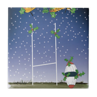 rugby xmas tile