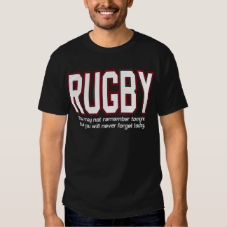 Rugby You'll Never Forget Today by U.S. Custom Ink T Shirt