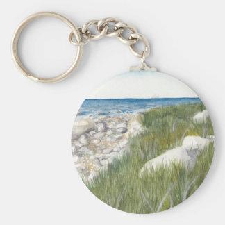 Rügen Beach Basic Round Button Keychain