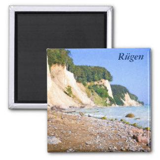 Rügen Chalk Cliffs Square Magnet