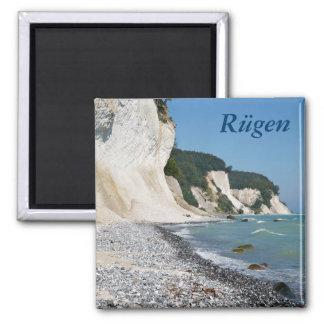 Rugen coast square magnet