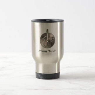 Rugged Acoustic Guitar 15 Oz Stainless Steel Travel Mug