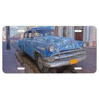 Rugged American car in Cuba lisence plate License Plate