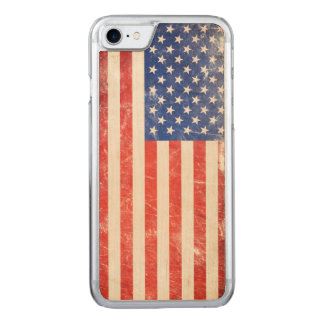 Rugged American Flag Carved iPhone 7 Case