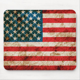 Rugged American Flag Mouse Pad