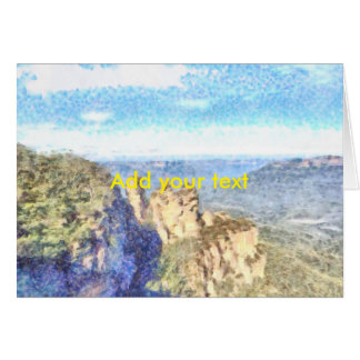 Rugged and beautiful mountains card