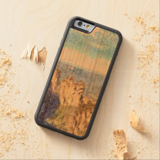 Rugged and beautiful mountains carved cherry iPhone 6 bumper case