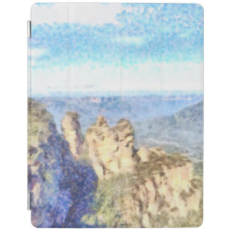Rugged and beautiful mountains iPad cover