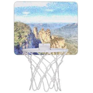 Rugged and beautiful mountains mini basketball hoop