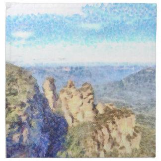 Rugged and beautiful mountains napkin
