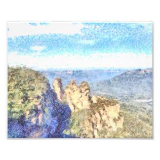 Rugged and beautiful mountains photo print