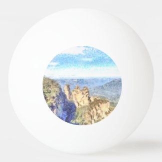 Rugged and beautiful mountains ping pong ball