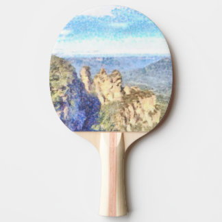 Rugged and beautiful mountains ping pong paddle
