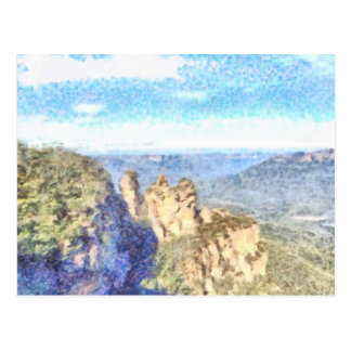 Rugged and beautiful mountains postcard
