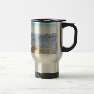 Rugged and beautiful mountains travel mug