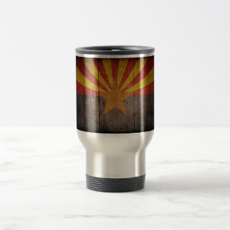 Rugged Arizona Flag Travel Mug