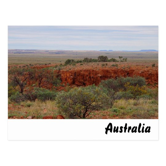 Rugged Australian outback postcard
