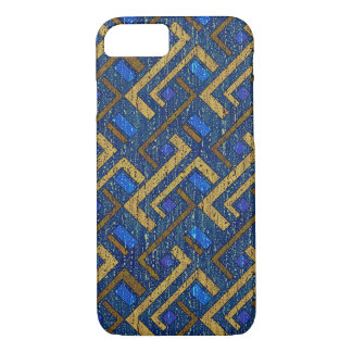 Rugged Blue Pattern iPhone 7 Case