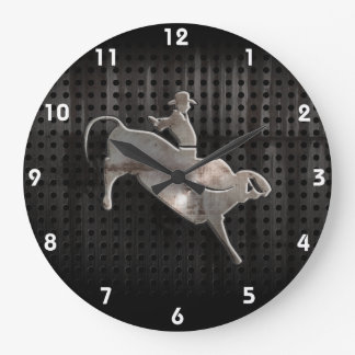 Rugged Bull Rider Large Clock