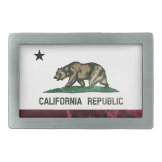 Rugged California Republic Flag Rectangular Belt Buckles