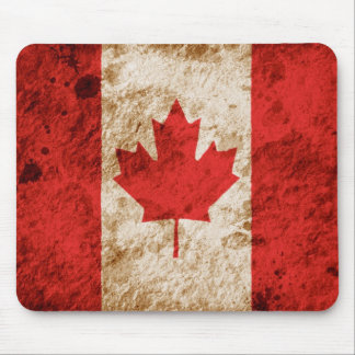 Rugged Canadian Flag Mouse Pad