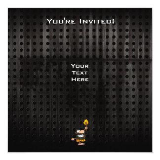 "Rugged Caveman 5.25"" Square Invitation Card"