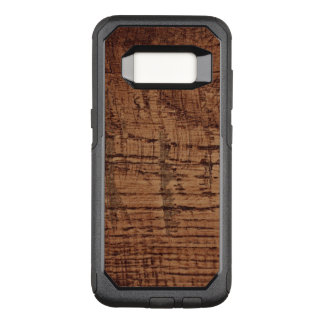 Rugged Chestnut Oak Wood Grain Look OtterBox Commuter Samsung Galaxy S8 Case