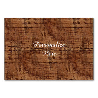 Rugged Chestnut Oak Wood Grain Look Table Card