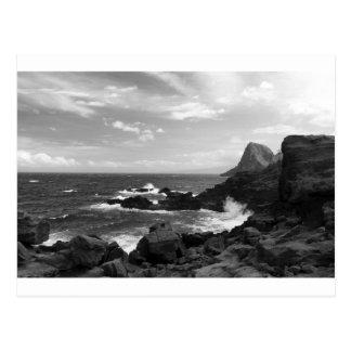 Rugged coastline postcard