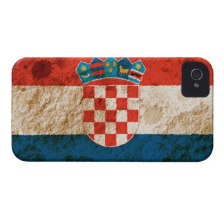 Rugged Croatian Flag Case-Mate iPhone 4 Case