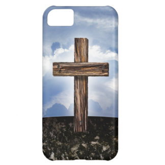 Rugged Cross with Sky iPhone 5C Covers