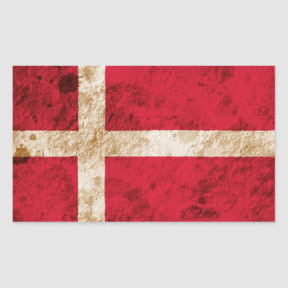 Rugged Danish Flag Sticker