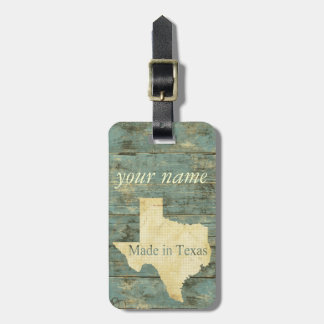 Rugged Distressed Old Planks Texas Luggage Tag