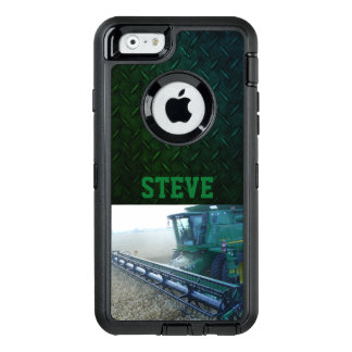 Rugged Farm Name Phone Case with Green Combine