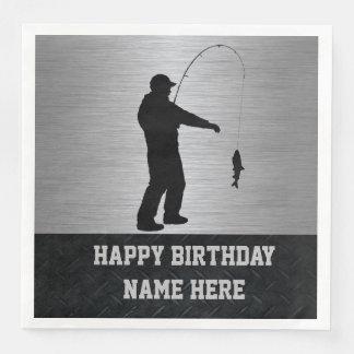 Rugged Fishing Birthday Napkins Paper Napkins