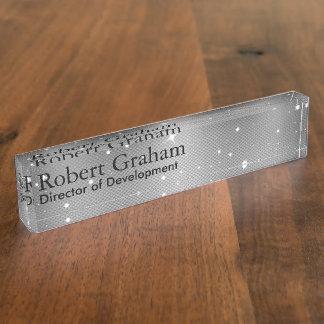 Rugged Gray Nameplate