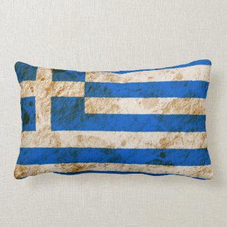 Rugged Greek Flag Lumbar Pillow